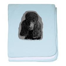black standard poodle baby blanket