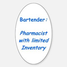 Bartenders Oval Decal