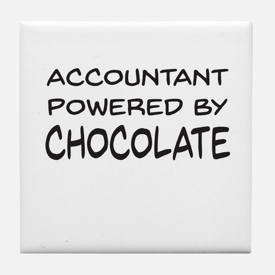 Accountant Powered By Chocolate Tile Coaster