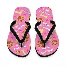Whippet Dog Mom Gift Flip Flops
