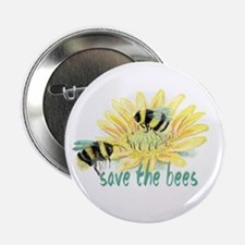 "Save The Bees 2.25"" Button (10 Pack)"