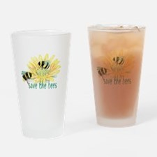 Save the Bees Drinking Glass