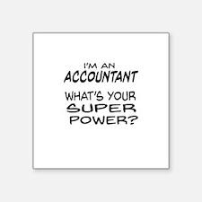 Accountant Super Power Sticker