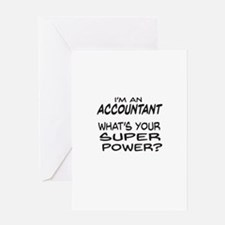 Accountant Super Power Greeting Cards