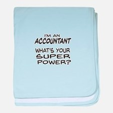 Accountant Super Power baby blanket