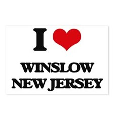 I love Winslow New Jersey Postcards (Package of 8)