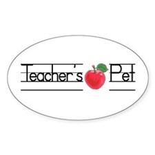 Teacher's Pet Oval Decal