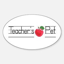 Teacher's Pet Oval Decal