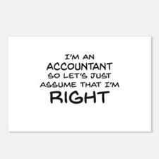 Im an accountant Assume Im Right Postcards (Packag