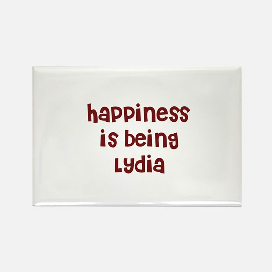 happiness is being Lydia Rectangle Magnet