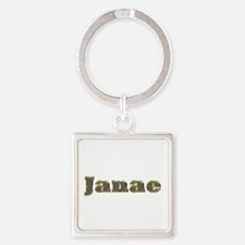 Janae Gold Diamond Bling Square Keychain