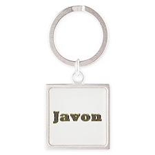 Javon Gold Diamond Bling Square Keychain