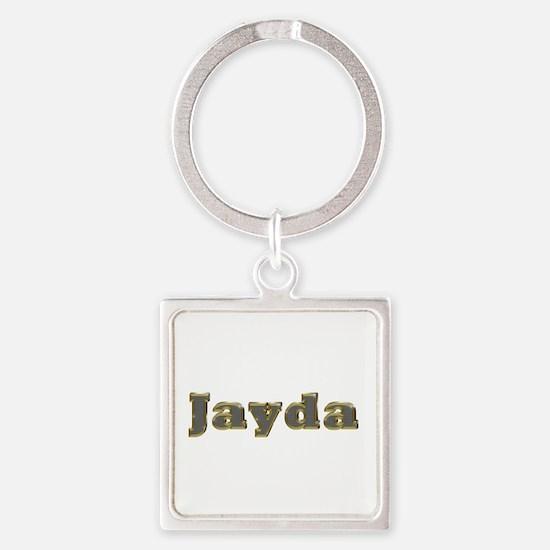 Jayda Gold Diamond Bling Square Keychain