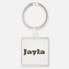 Jayla Gold Diamond Bling Square Keychain