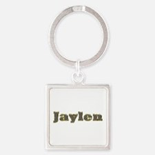 Jaylen Gold Diamond Bling Square Keychain