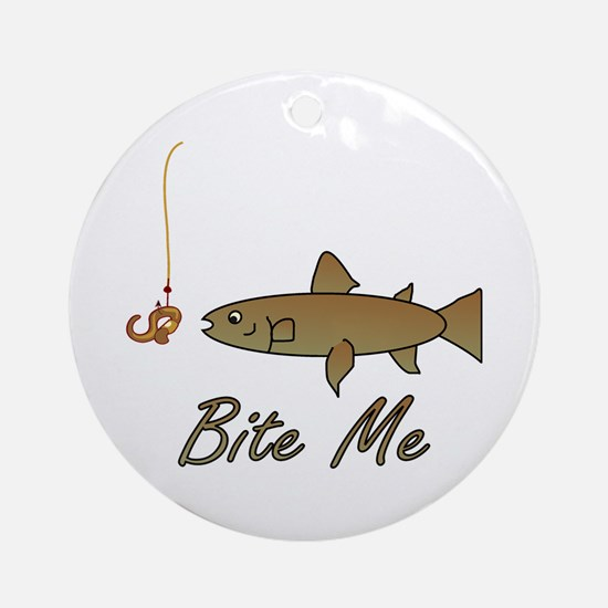 Bite Me Fish Ornament (Round)