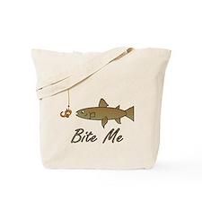 Bite Me Fish Tote Bag