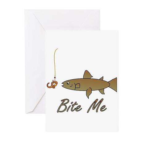 Bite Me Fish Greeting Cards (Pk of 10)