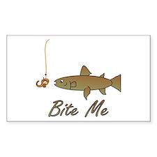 Bite Me Fish Rectangle Decal