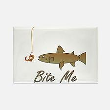 Bite Me Fish Rectangle Magnet