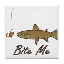 Bite Me Fish Tile Coaster