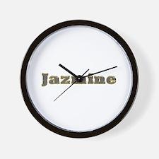Jazmine Gold Diamond Bling Wall Clock
