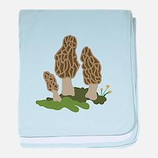 Mushrooms baby blanket