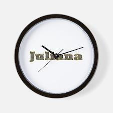 Juliana Gold Diamond Bling Wall Clock