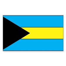 Bahamas Flag Rectangle Decal