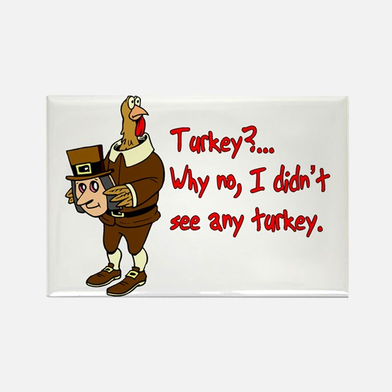 Turkey Disguise Rectangle Magnet
