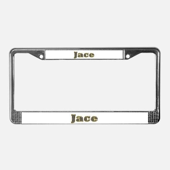Jace Gold Diamond Bling License Plate Frame