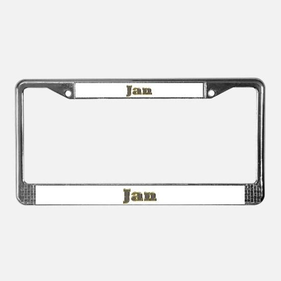 Jan Gold Diamond Bling License Plate Frame