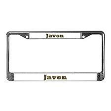Javon Gold Diamond Bling License Plate Frame