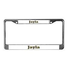 Jayla Gold Diamond Bling License Plate Frame