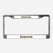 Jayson Gold Diamond Bling License Plate Frame