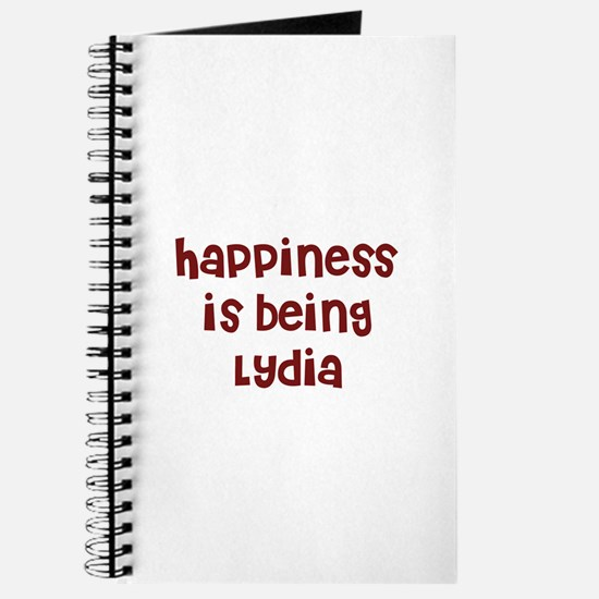 happiness is being Lydia Journal