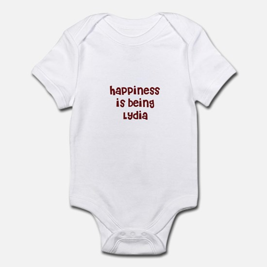 happiness is being Lydia Infant Bodysuit