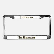 Julianne Gold Diamond Bling License Plate Frame