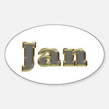 Jan Gold Diamond Bling Oval Decal