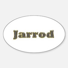 Jarrod Gold Diamond Bling Oval Decal