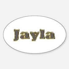 Jayla Gold Diamond Bling Oval Decal