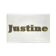 Justine Gold Diamond Bling Rectangle Magnet