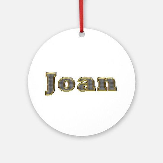 Joan Gold Diamond Bling Round Ornament