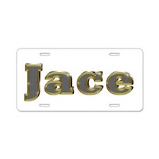 Jace Gold Diamond Bling Aluminum License Plate