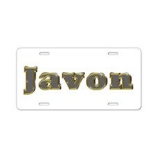 Javon Gold Diamond Bling Aluminum License Plate