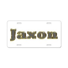 Jaxon Gold Diamond Bling Aluminum License Plate