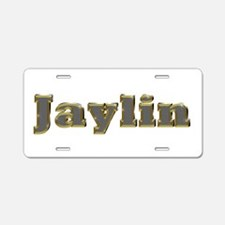 Jaylin Gold Diamond Bling Aluminum License Plate