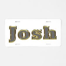 Josh Gold Diamond Bling Aluminum License Plate