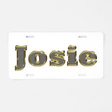 Josie Gold Diamond Bling Aluminum License Plate