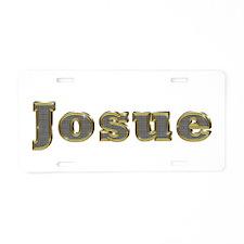 Josue Gold Diamond Bling Aluminum License Plate